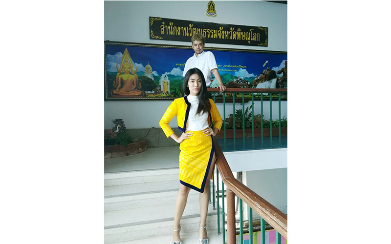 นิสิตคว้ารางวัลออกแบบเครื่องแต่งกายแบบเครื่อง แต่งกายชุดผ้าไทย ผ้าถิ่น จังหวัดพิษณุโลก ประจำปี 2560