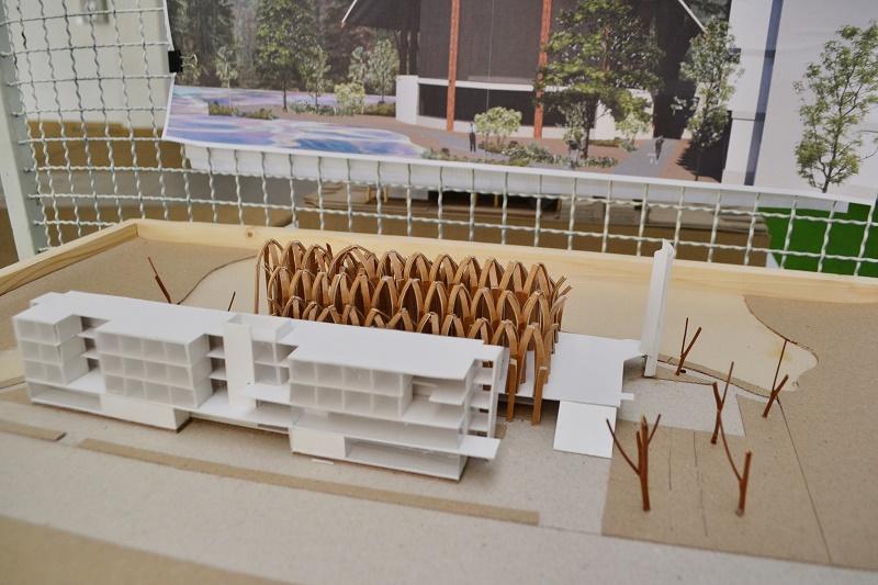 """นิทรรศการ """"การออกแบบเมืองจำลองสีเขียว  (Green City Simulation) """""""
