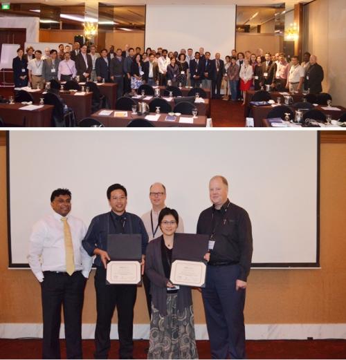 """ดร.สันต์ จันทร์สมศักดิ์ และ ดร.สิริมาศ เฮงรัศมี  ได้รับรางวัล """" Best Research Paper"""""""