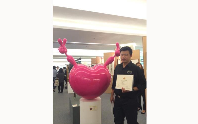 อาจารย์ฐิติ สมบูรณ์อเนก ได้รับรางวัลประกาศนียบัตรเกียรตินิยมอันดับ 2 ประกวดประติมากรรม