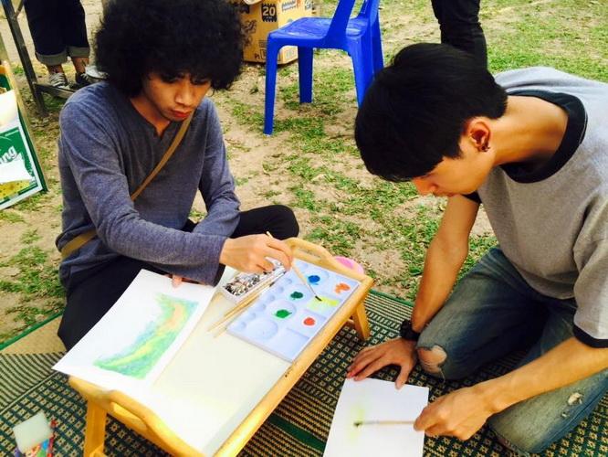 """คณาจารย์และนิสิตแสดงผลงาน เทศกาลศิลปะน่าน ครั้งที่ 3 """"Nan Arts Festival"""""""