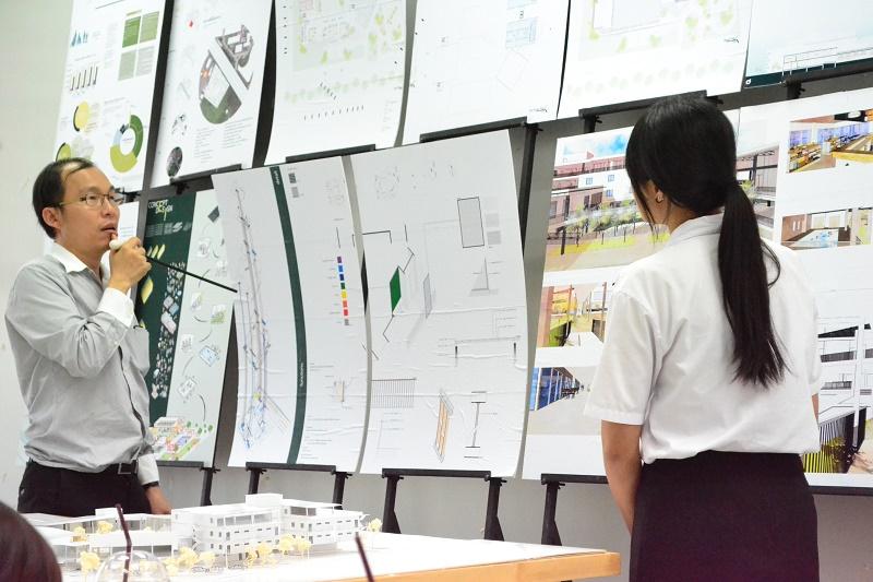 ตรวจผลงานวิทยานิพนธ์ นิสิตชั้นปีที่ 5 สาขาสถาปัตยกรรม ประจำปีการศึกษา 2559